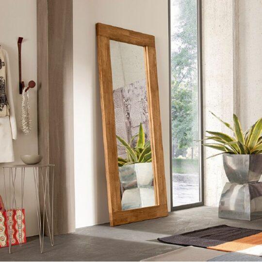 Specchio verticale cornice in legno massello